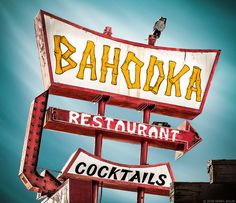 Tiki Bar Bahooka Matchbook Reproduction Poster//Print