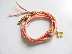 Silk & Coral #bohochic #bohemian #bracelets