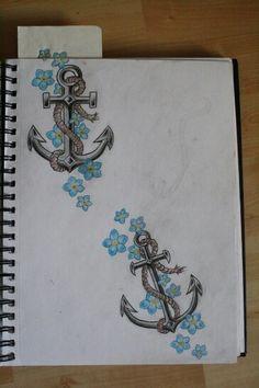 Matching ancor tattoos.