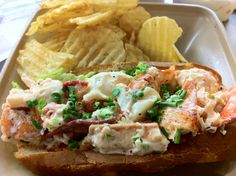 Lobster sandwich at lobster place @ Chelsea market NY