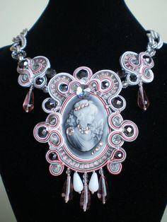 Soutache Necklace Anastasia by AriannaRaffaBijoux on Etsy
