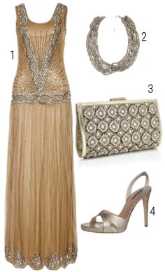Gatsby-esque dress. I'd switch the shoes for something more 20's era though.