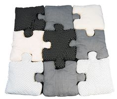 puzzle pillows - by gry fager. Via inspire me now.
