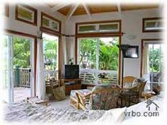 Kilauea, HI: This beautiful little cottage is tucked into a small forest, with a view of the Hanalei Mountains. Where you will awaken each morning to the symphony ...