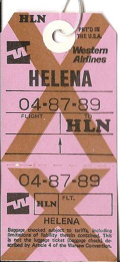 Vintage airline baggage tag