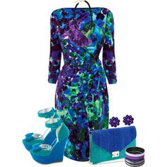 Blue Teal and Purple by jackaford-bittick on Polyvore