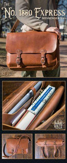 a274f97377 1860 EXPRESS - Fine Leather Messenger Bag   Mens Briefcase