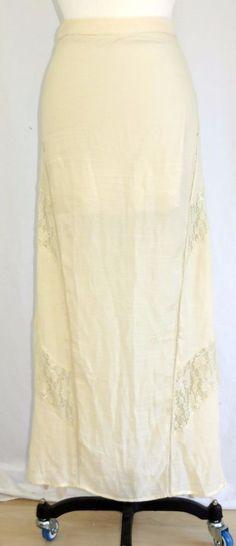 Fashion on Earth Long Maxi Boho Skirt Lace Side Slits Lined to Knee S #FashiononEarth #StraightPencil