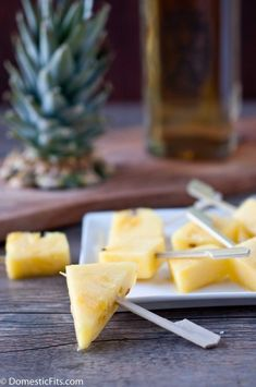 Rum soaked pineapple pops. OH HEY, SUMMER. WHERE THE EFF ARE YOU?