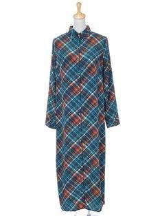 Anna-Kaci S/M Fit Red nd Blue Plaid Long Sleeve « Impulse Clothes