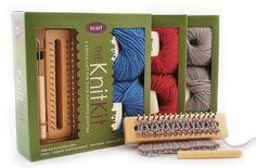 Tadpole Knitting Board Yarn Scarf Kit DVD - Blue on Etsy, $28.95