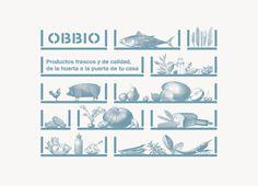 Logo and illustration by Mayuscula for Spanish organic supermarket Obbio