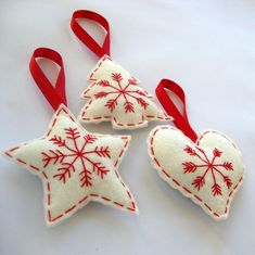 3x Felt Hanging Christmas Decorations £12.00