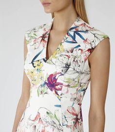 Reiss Onie Women's Sugar Printed Dress