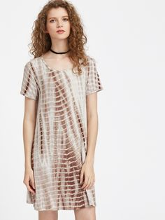 Buy it now. Coffee Tie Dye Print Swing Tee Dress. Coffee Casual Boho Rayon Scoop Neck Short Sleeve A Line Short Tie Dye Fabric is very stretchy Spring Summer Tshirt Dresses. , vestidoinformal, casual, camiseta, playeros, informales, túnica, estilocamiseta, camisola, vestidodealgodón, vestidosdealgodón, verano, informal, playa, playero, capa, capas, vestidobabydoll, camisole, túnica, shift, pleat, pleated, drape, t-shape, daisy, foldedshoulder, summer, loosefit, tunictop, swing, day, offth...