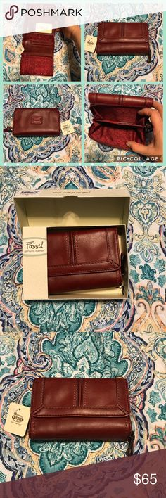 Fossil NIB Claudia Multifunction leather wallet Fossil NIB Claudia Multifunction leather wallet. Please see photos for more details.   Thank you for looking at my post be sure to check out my closet. Follow me so you can keep updated with all my good deals.   Bundle your likes & I will send you a private offer. Click ADD TO BUNDLE on each item you like from my closet, I will send an exclusive offer with no obligation to buy.   I accept reasonable offers I'm a fast shipper. I look forward to…