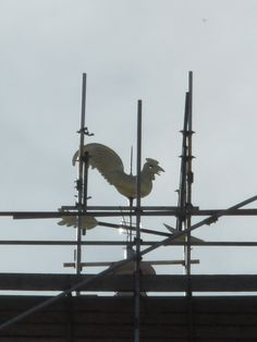 A warm welcome returns, Newark Parish Church of St Mary Magdalene Church.  The Golden Cockerel Weather Vane which has be put back on top of the spire for all to see. The cockerel dates back to at around 1763.  Taken by Amateur Photographer  Laurence Goff