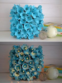 $5 DIY Egg Carton Lamp