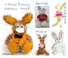 5 Knitted Easter Bunny Projects