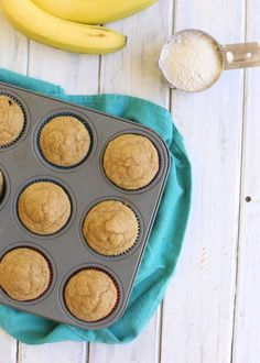 Kodiak Cakes Banana Muffins-- easy, healthy, and so good! Perfect for breakfasts, snack, or to pack in your kiddos lunch!