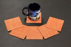 "Chilewich BASKETWEAVE MATCHING MANGO 4"" X 4"" COASTERS MOISTURE PROOF BACKING http://www.ebay.com/itm/Chilewic... Chilewich BASKETWEAVE MATCHING MANGO 4"" X 4"" COASTERS MOISTURE PROOF BACKING in Home & Garden, Rugs & Carpets, Carpet Tiles 
