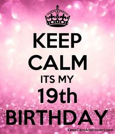 Find images and videos about pink, quotes and happy on We Heart It - the app to get lost in what you love. 19 Birthday Quotes, Happy Birthday 19, Happy Birthday Template, Birthday Captions, Happy Birthday Wishes Quotes, 19th Birthday, Birthday Wallpaper, Life Quotes Pictures, Keep Calm Quotes