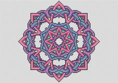 PATTERN Knotty Mandala Cross Stitch Chart - Modern Cross Stitch PDF - Easy Mandala Design with DMC Colours