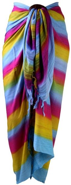 Fun!  Love the colors!!  ~~Amazon.com: Sarong Stripe Coverup Pinks: Clothing