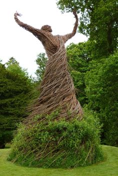 A Swirling Willow Figure Rises from the Grounds of Shambellie House in Scotland. Wicker man?