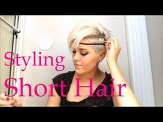 @SteffieeRose How to style really short hair via YouTube OMG I WANT THIS GIRLS HAIR!!!