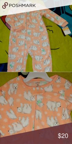 NWT Carter's Fleece 3T  Reminder: App Charges 20% Fee On Item's Over $15 And $3 On Items $15 & Under. Carter's Pajamas