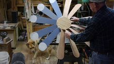 I like to make windmills. Here I show you how I make the blades and hub How To Make Windmill, Windmill Blades, Wind Sculptures, Wind Spinners, Yard Art, Woodworking Projects, Projects To Try, Workbenches, Make It Yourself