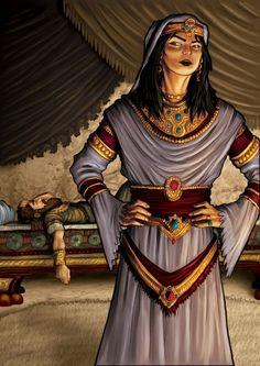 JEZABEL: Es introducida como una princesa fenicia, hija del rey Ithobaal I de Sidón, que se casa con el rey Acab del Reino del Norte durante la época en que la nación de Israel estaba dividida en los reinos del norte (Israel) y sur (Judá). Esta reina alejaba a Acab de la deidad de los israelitas Yahvé (que, en este contexto, era adorado solamente por los habitantes de Judá) y los llevaba a adorar al dios de los sidonios Baa...l (1 Reyes 16:29-33; 18:1-4; 21:1-16; 2 Reyes 9:30-37) ღ✟