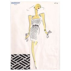 Givenchy Croquis of a Cocktail Dress 1