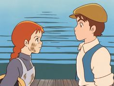 Anne Shirley and Gilbert Blyth Anime Eyes, Anime Manga, Anne Auf Green Gables, Beetlejuice Cartoon, Baguio, Gilbert And Anne, Cartoon Wallpaper Iphone, Anne Shirley, Old Anime