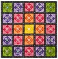 Dime Quiltspiration Diamond in the Square