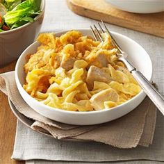 Chicken & Egg Noodle Casserole Recipe -A friend and her family went through a really difficult time, and I felt so awful for them. Bringing over this casserole was the one thing I could think of to help them out in a tiny way and let them know I was thinking of them. —Lin Krankel, Oxford, Michigan