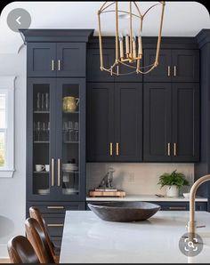 Outdoor Kitchen Design, Home Decor Kitchen, Kitchen Interior, Küchen Design, Layout Design, House Design, Interior Design, Black Kitchens, Home Kitchens