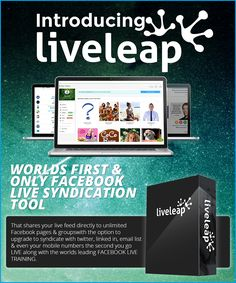 Live Leap Review+BEST LiveLeap BONUS+Discount- The World's First&Only Facebook Live Syndication Tool Warrior Forum Classified Ads