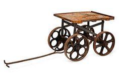 1920s Cast Iron Factory Cart