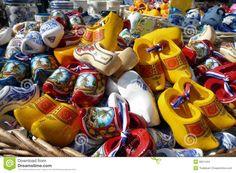 Pile of Shoes | Pile of Souvenir Dutch Wooden Shoes in an Amsterdam Market.