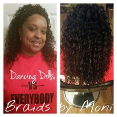 Crochet braids using Freetress Deep Twist hair. You can schedule your appointment online at www.styleseat.com/immonatriafortune