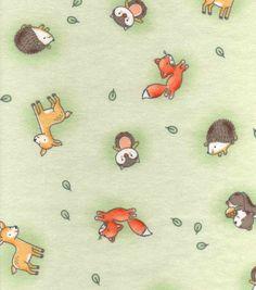 Nursery Flannel Fabric 42 Woodland Tossed
