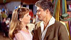 "jamesdeaner: "" James Dean and Julie Harris in East of Eden (1955). """