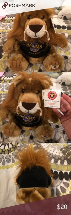 Limited Edition Hard Rock Hotel Orlando Lion I got him years ago for my birthday I think when I turned like 12 when I stayed at Universal's Hard Rock Hotel in Orlando. I had no idea he was a collector's item. I would like to sell him as I don't really keep any plush animals anymore. Herrington Teddy Bears Other