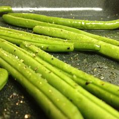 Easy Baked Green Beans: You can add as many seasonings as you like to this recipe. Garlic is delicious with it.