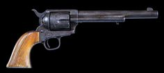 Colt Single Action Army .45 caliber, 7 ½ inch barrel, originally nickel, all matching, one-piece ivory grips, circa 1876. This revolver was probably shipped blued to Hartley and Graham. They would have added the ivory grips and had the revolver nickeled. No letter supports this.