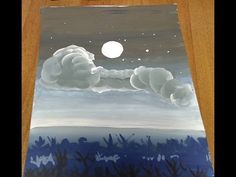 """Урок """"Рисуем ночное небо"""" Сложность - низкая"""