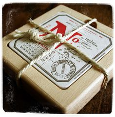 Lettepress & paper products : letterpress coasters red  #mrcup #amazing