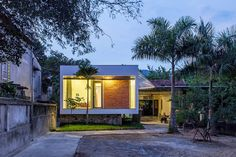 The Shelter is a private residence designed by Nha4 Architects in 2015. The home is located in Thai Hoa, Nghe An, Vietnam, and covers an area of 753 square feet.